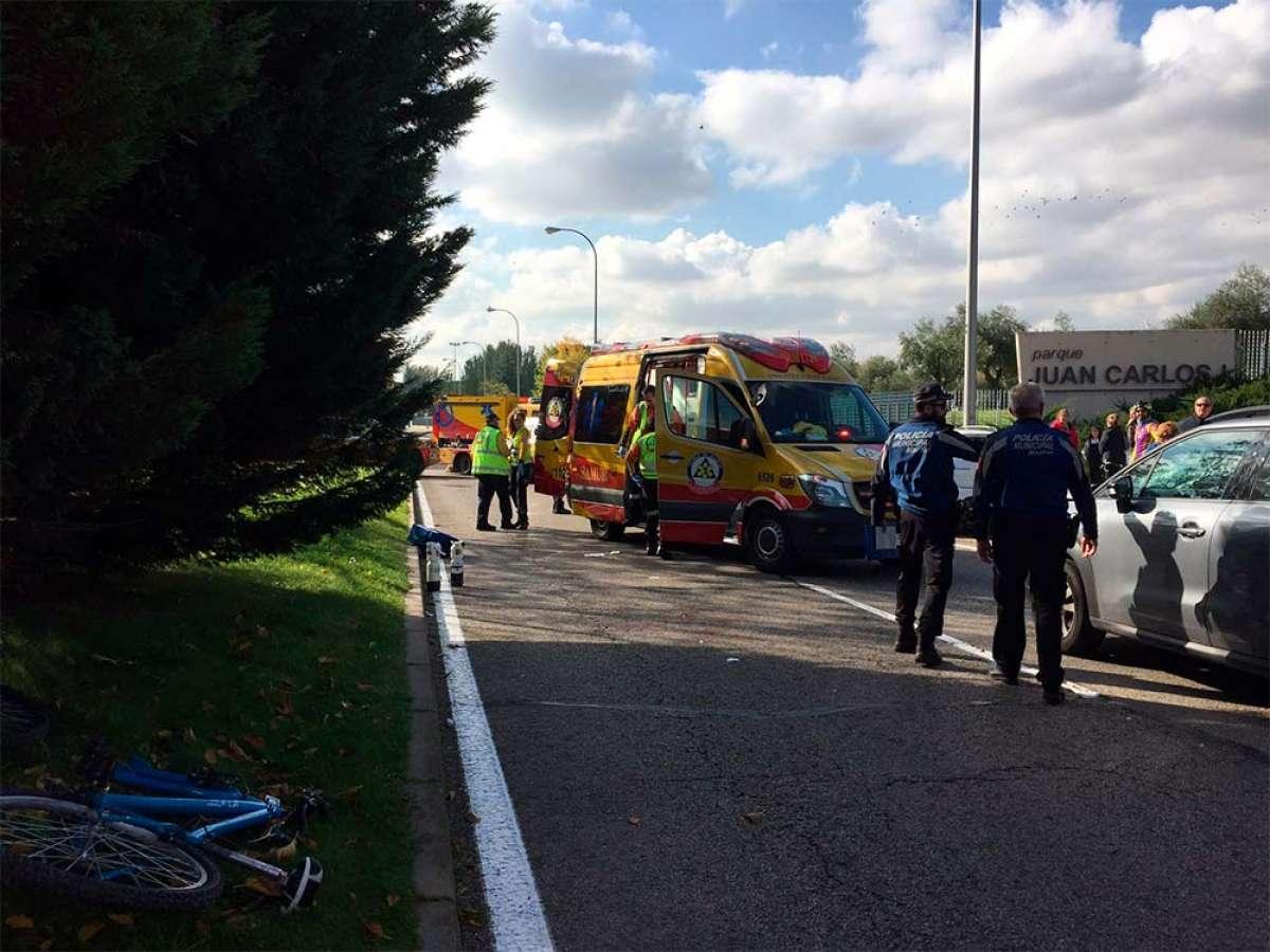 Fallece el joven ciclista atropellado y posteriormente reanimado por una doctora en Madrid