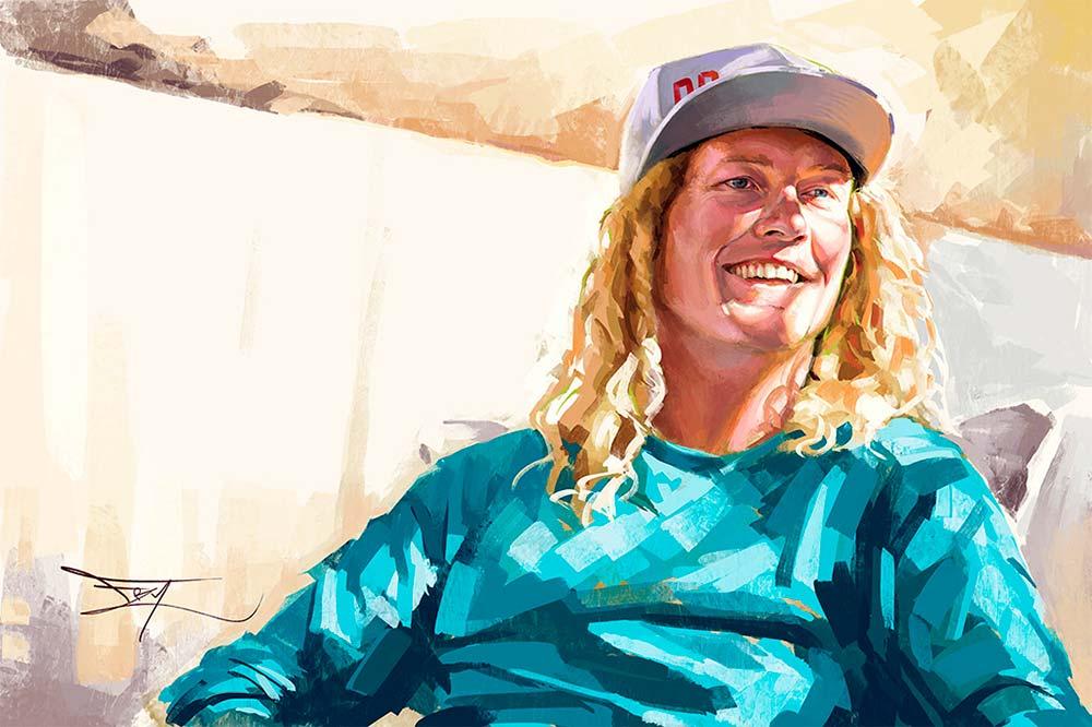 En TodoMountainBike: Jared Fry, el artista canadiense que pinta cuadros de los mejores pilotos MTB del planeta con fines benéficos