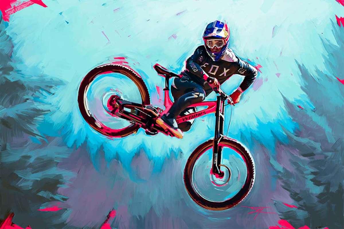 Jared Fry, el artista canadiense que pinta cuadros de los mejores pilotos MTB del planeta con fines benéficos