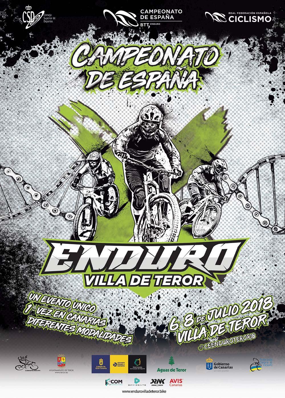 La localidad canaria de Teror acoge el Campeonato de España de Enduro 2018