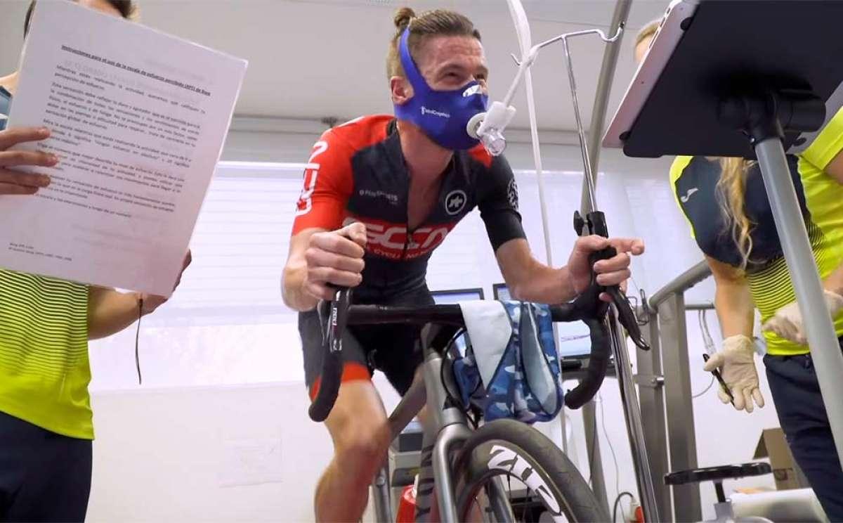 ¿Cómo se hace una prueba de esfuerzo para determinar los umbrales de trabajo de un ciclista?