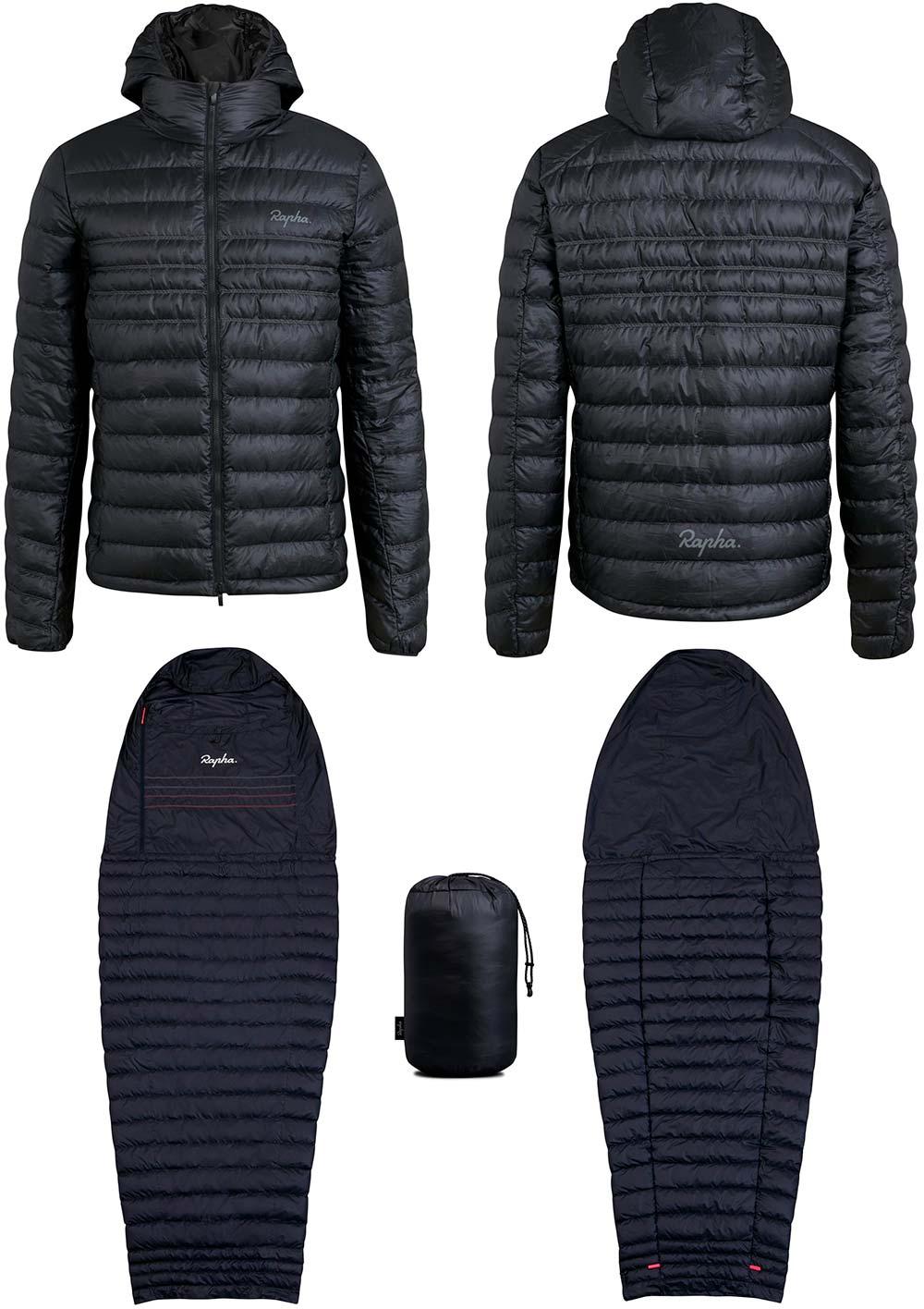 En TodoMountainBike: Rapha presenta una chaqueta combinable con un saco de dormir para los ciclistas más aventureros