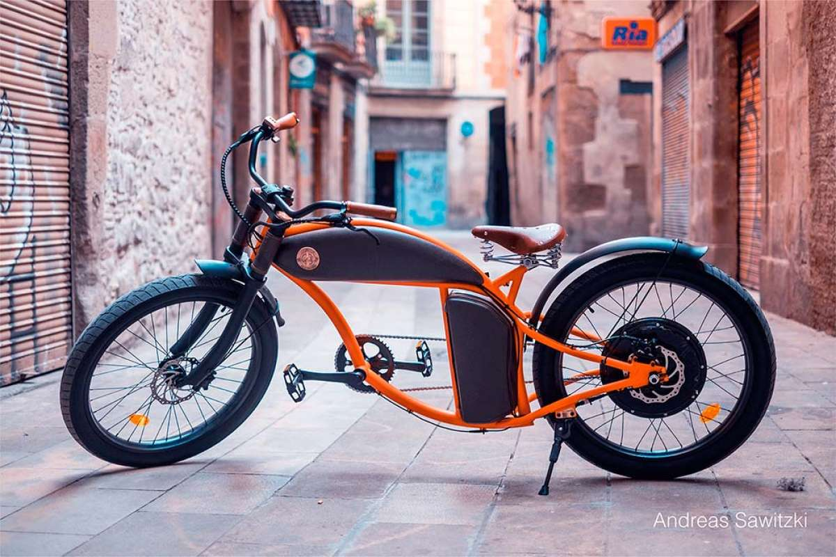 Raybolt Cruzer, una sorprendente bicicleta eléctrica con estética de motocicleta clásica