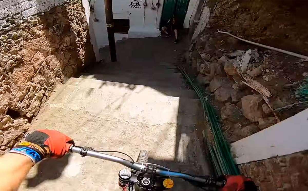 El recorrido del Downhill Taxco 2018 desde la bicicleta de Sam Pilgrim