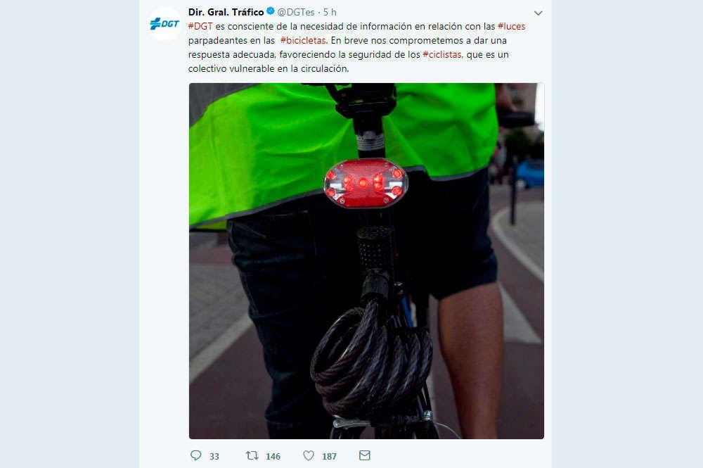 """En TodoMountainBike: La DGT, sobre el uso de luces traseras con destellos: """"En breve daremos una respuesta, favoreciendo la seguridad de los ciclistas"""""""