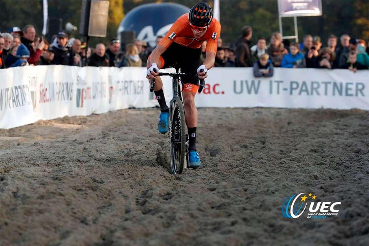 Mathieu van der Poel y Annemarie Worst se proclaman campeones de Europa de ciclocross