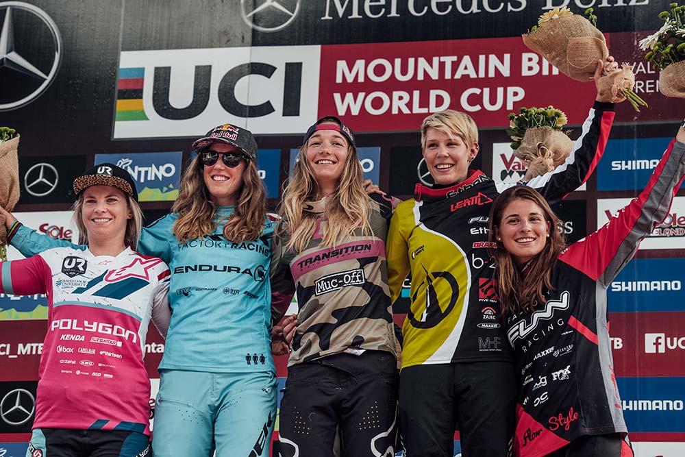 En TodoMountainBike: Amaury Pierron y Tahnée Seagrave ganan la cuarta ronda de la Copa del Mundo DHI 2018 en Val di Sole