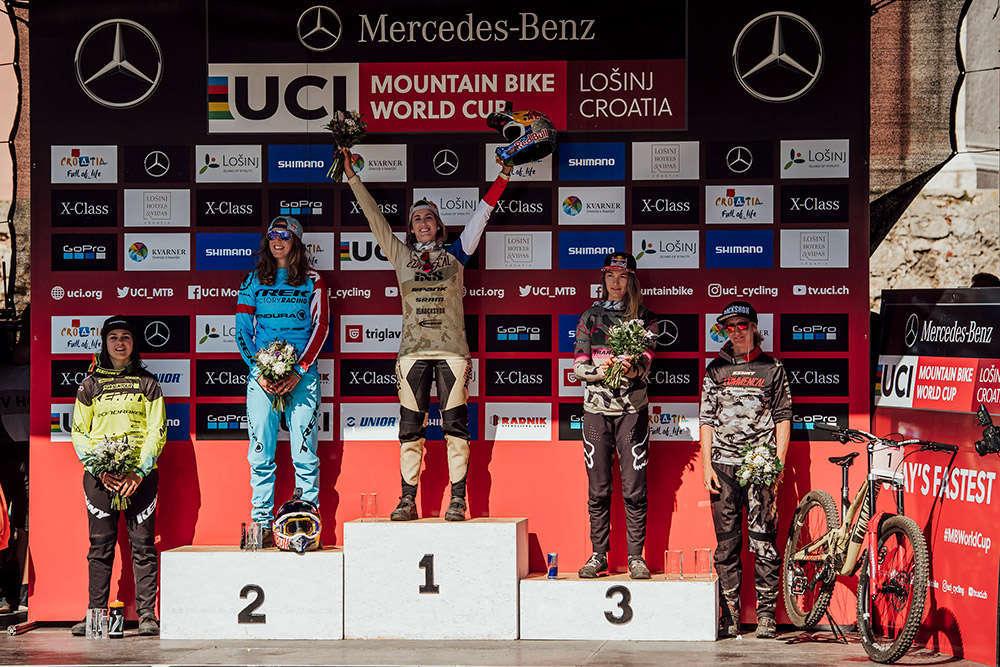 En TodoMountainBike: La Copa del Mundo UCI DHI 2018 arranca en Lošinj con victoria para Aaron Gwin y Myriam Nicole