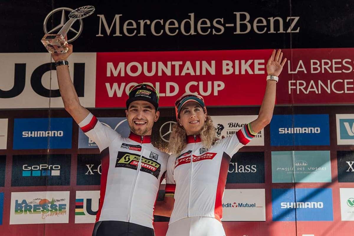 En TodoMountainBike: Nino Schurter y Jolanda Neff confirman su dominio en la final de la Copa del Mundo XCO 2018 disputada en La Bresse