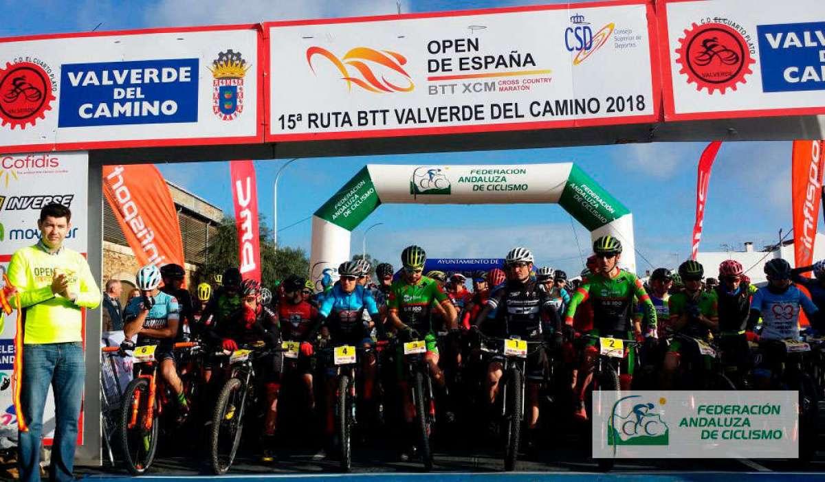 En TodoMountainBike: Victoria de Daniel Carreño y María Díaz Pernía en la XV Ruta BTT Valverde del Camino, primera prueba del Open de España XCM 2018