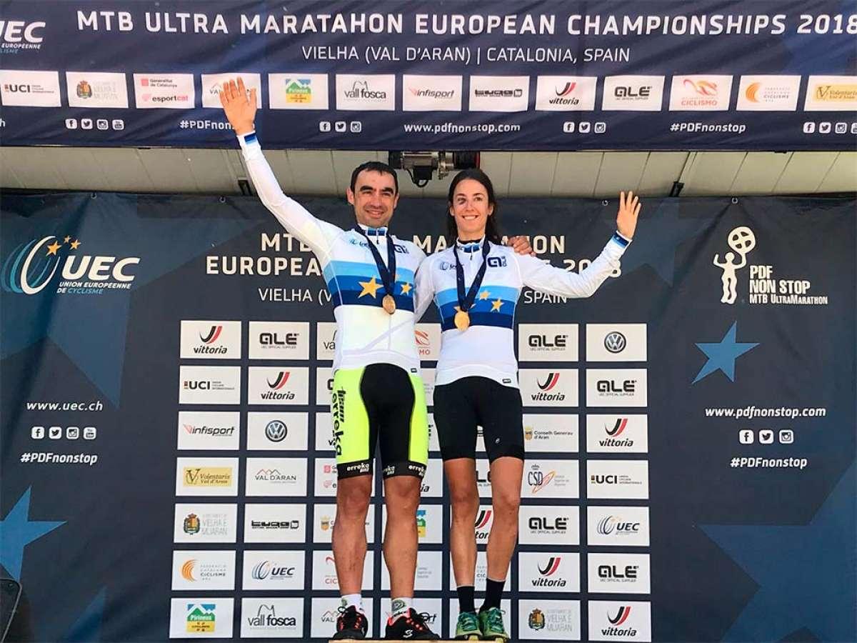 Joseba Albizu y Clara Fernández, campeones de Europa de XCUM en la Pedals de Foc Non Stop 2018