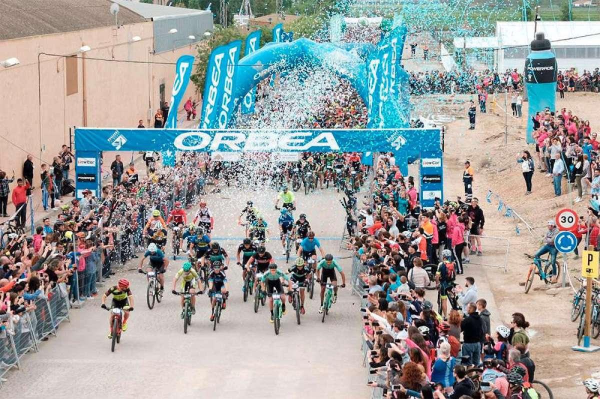 8.000 aficionados invaden Sariñena para participar en la Orbea Monegros 2018