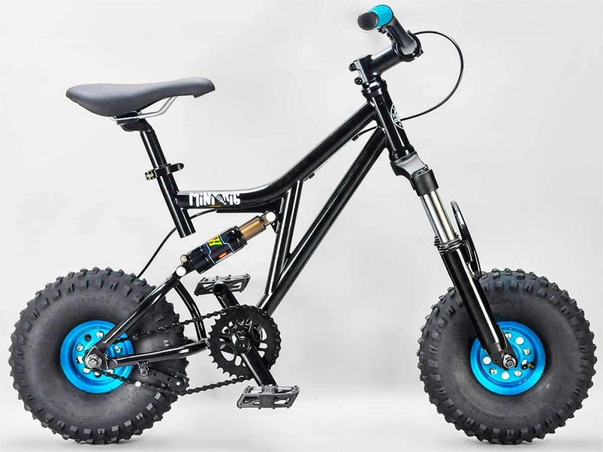 Rocker Mini Rig Black, una mini-bicicleta de DH con ruedas gordas y estética retro