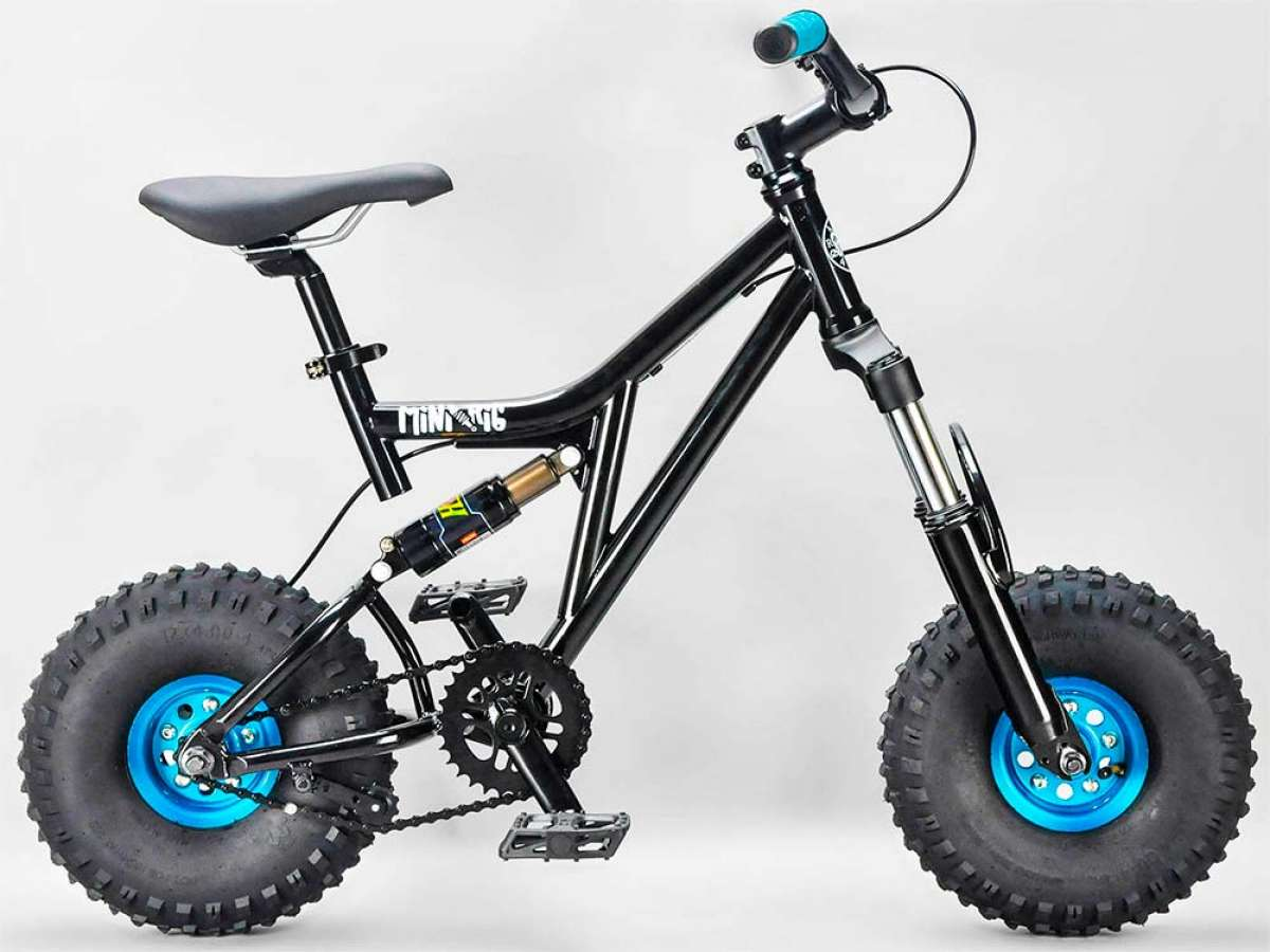 At TodoMountainBike: Rocker Mini Rig Black, a DH mini-bike with fat wheels and retro look