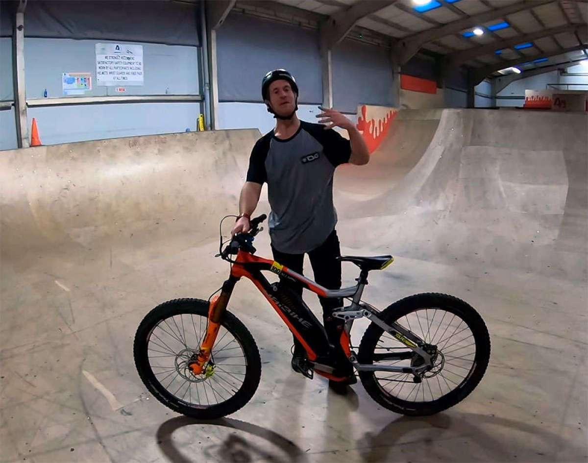 En TodoMountainBike: ¿Cómo se comporta una Haibike XDURO AllMtn en un Skate Park? Sam Pilgrim tiene la respuesta