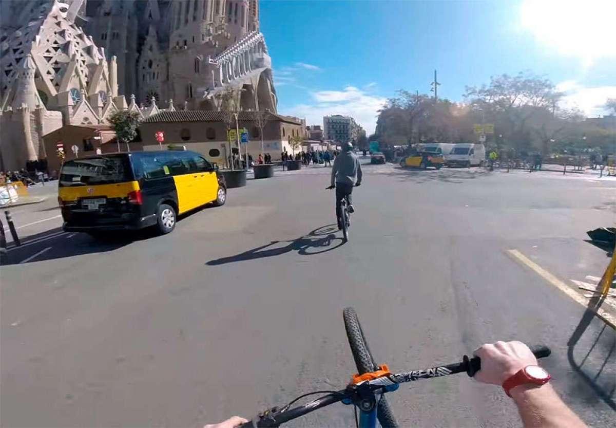 Freeride urbano por las calles de Barcelona con Sam Pilgrim