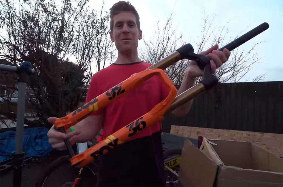 Montando y probando una FOX 36 en una Haibike XDURO AllMtn con Sam Pilgrim