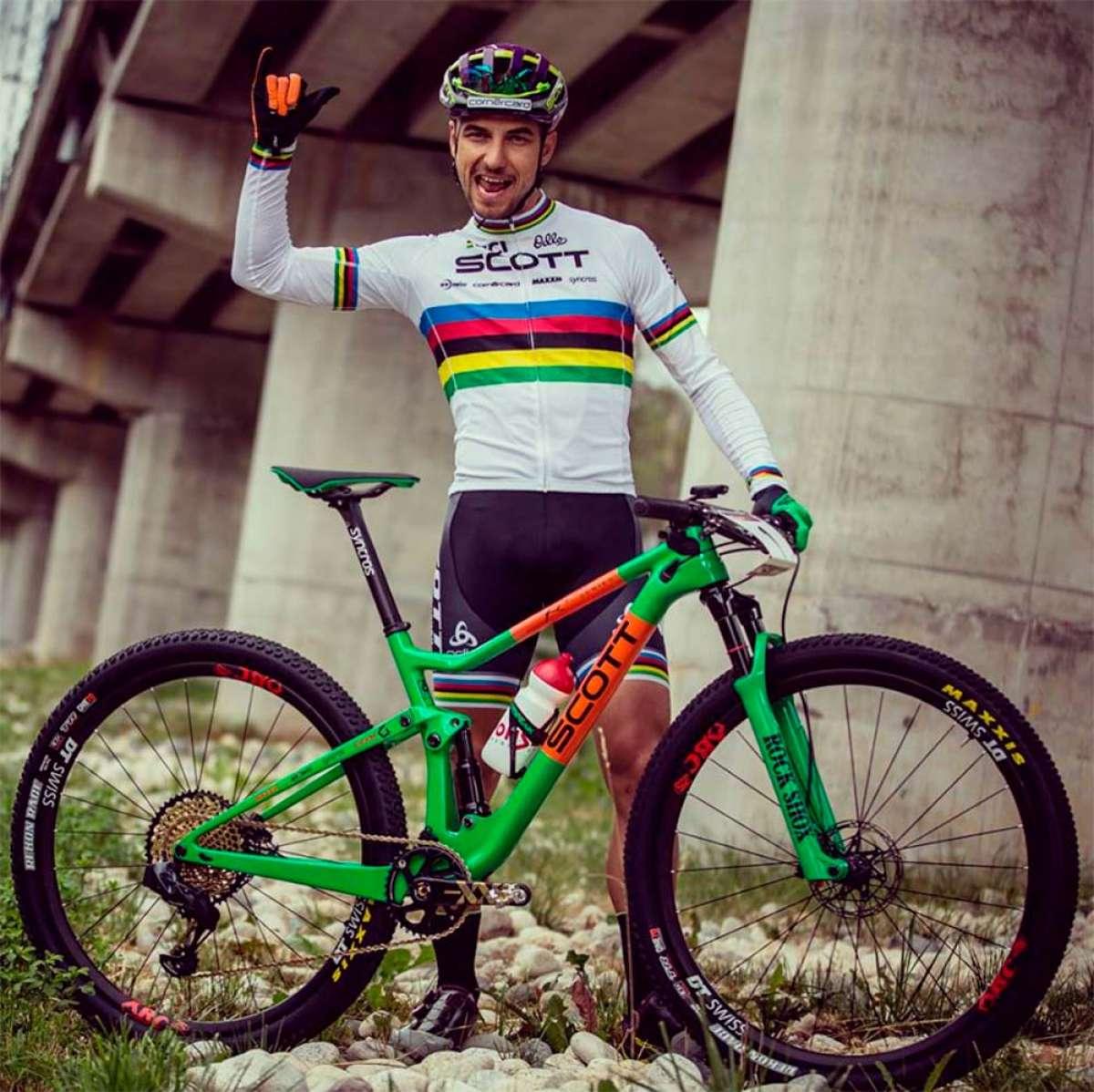 La Scott Spark personalizada de Nino Schurter para la Copa del Mundo XCO 2018 de Val di Sole