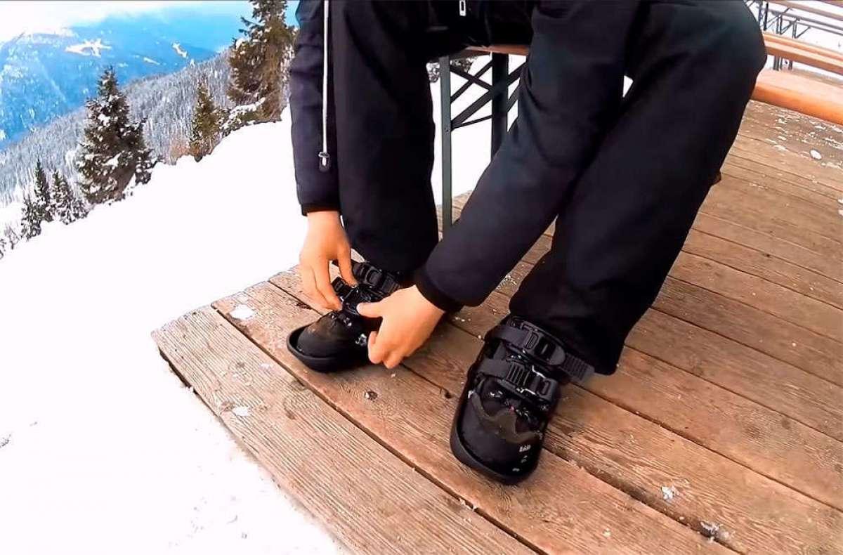 Snowfeet, unos mini esquís para bajarse de la bici y seguir entrenando sobre la nieve