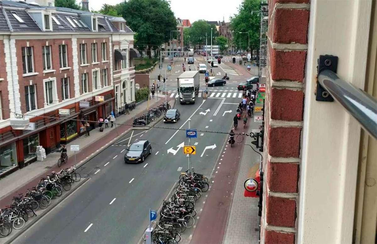 Así es el tráfico en hora punta en Ámsterdam