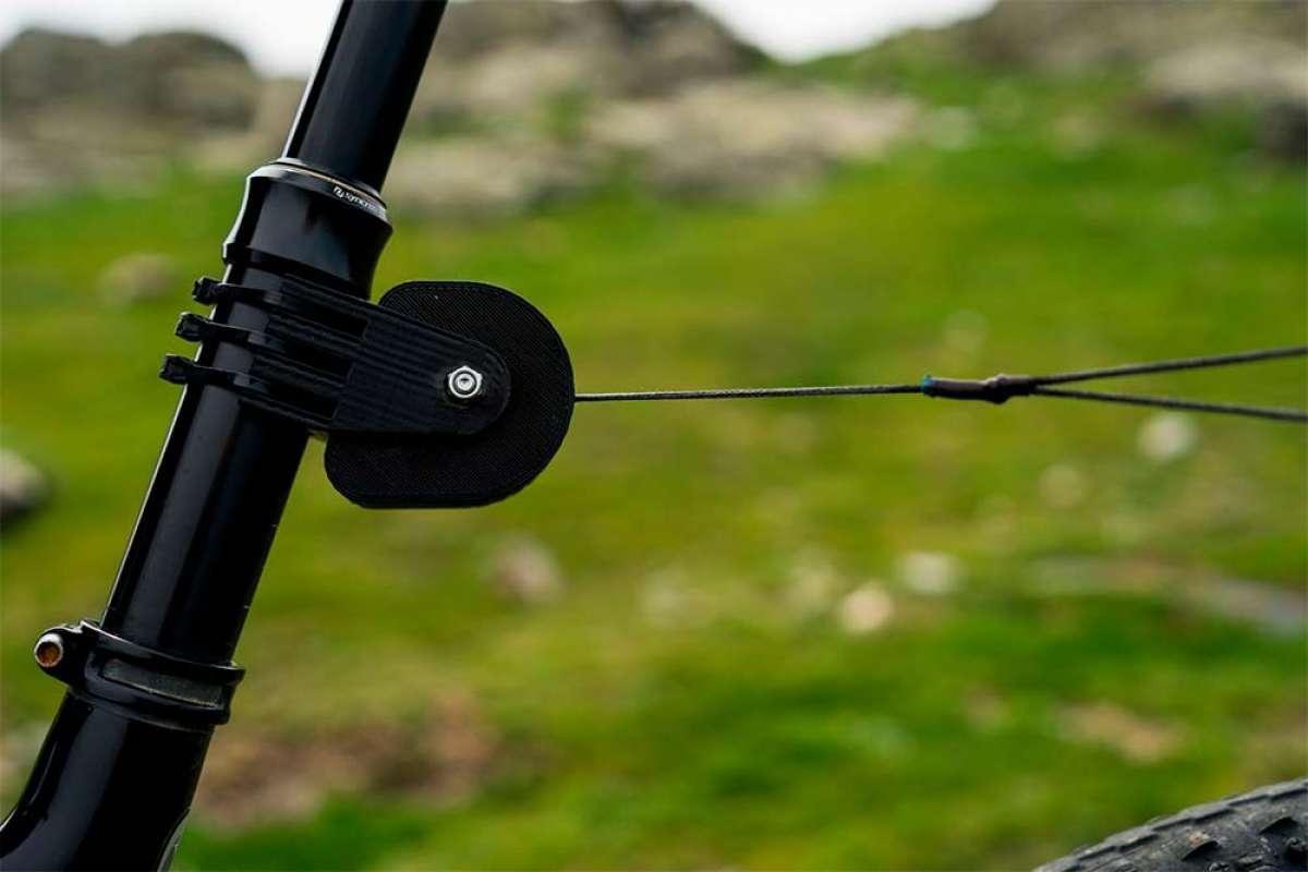 TRAX mtb, un práctico accesorio para remolcar una bicicleta desde la tija de otra bicicleta