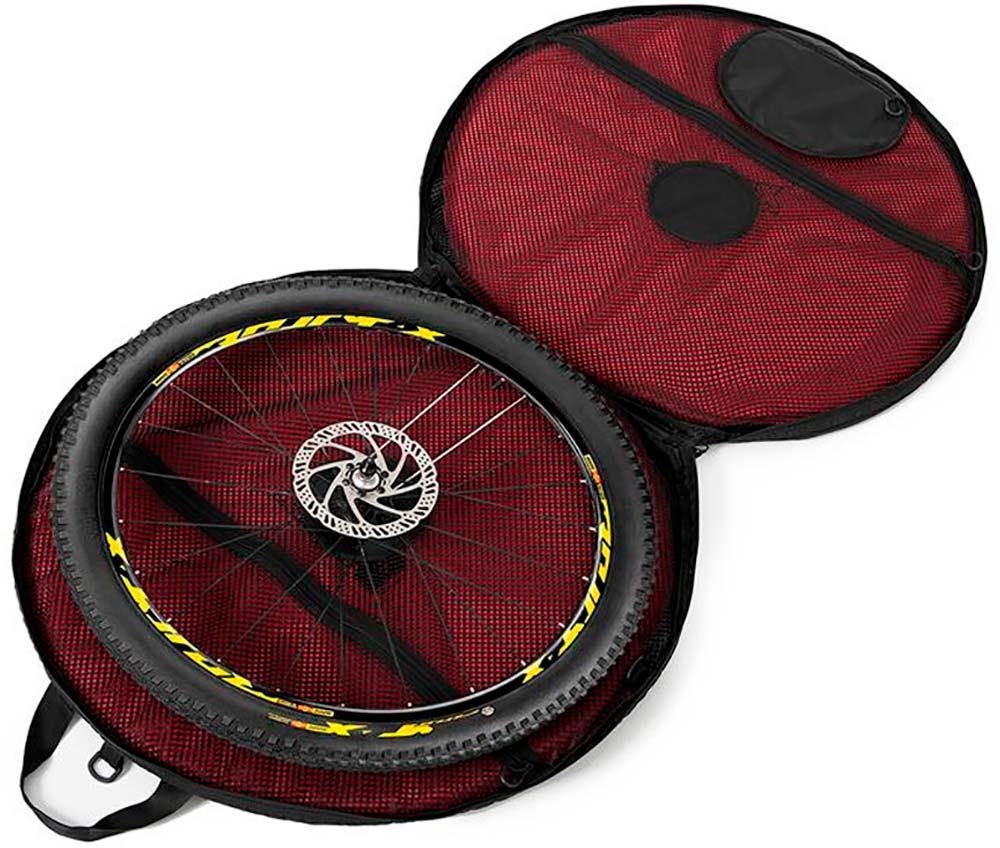 En TodoMountainBike: Ultix Saturn Air, una bolsa de diseño plegable y protectores inflables para transportar las ruedas de la bici