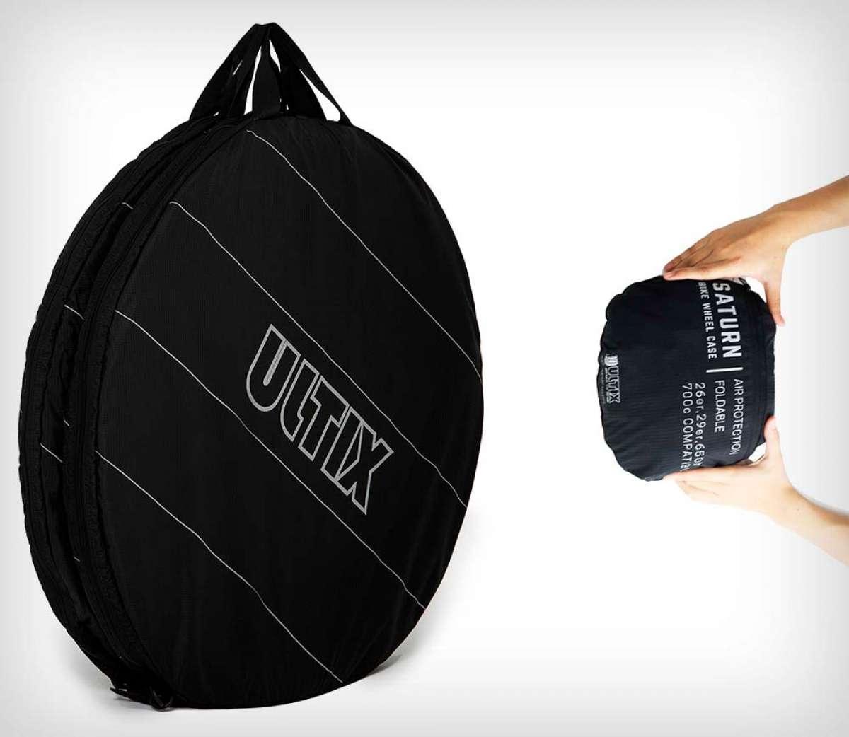 Ultix Saturn Air, una bolsa de diseño plegable y protectores inflables para transportar las ruedas de la bici