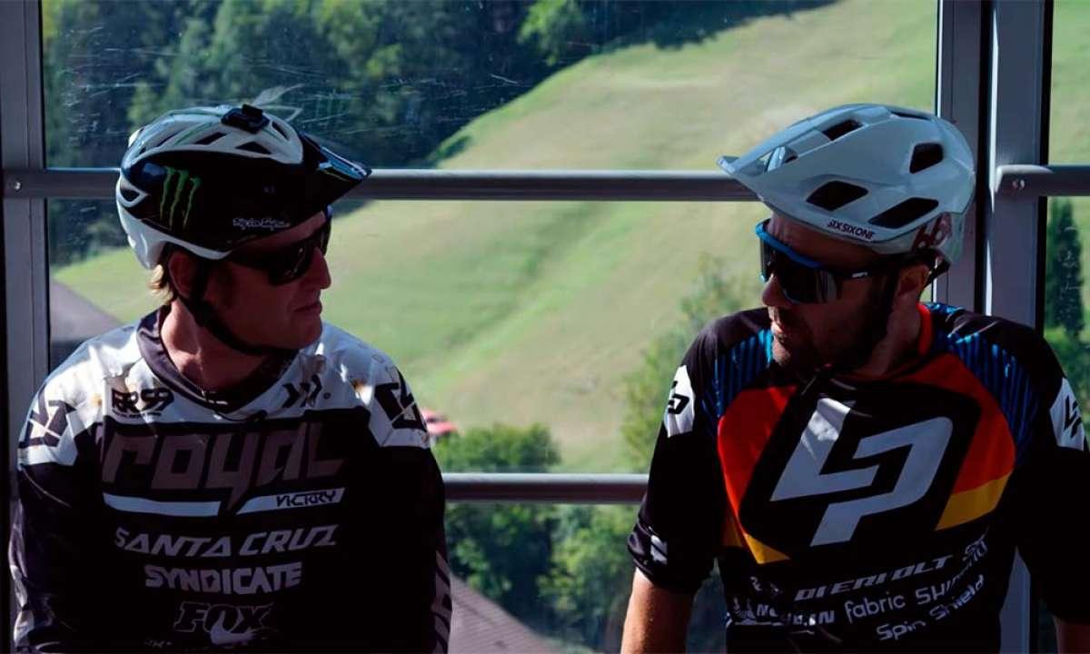 Steve Peat y Nicolas Vouilloz, dos eternos rivales rodando juntos para rememorar viejos tiempos