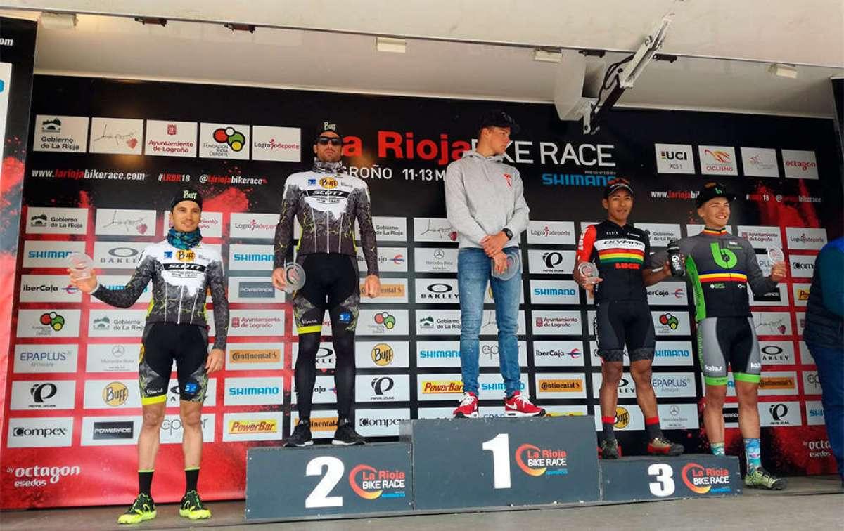 Los vencedores de La Rioja Bike Race 2018: Mathieu van der Poel y Clàudia Galicia