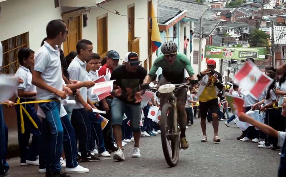 La cuarta etapa de La Leyenda del Dorado 2018 con Ibon Zugasti y Alberto Losada (Orbea Factory Team)