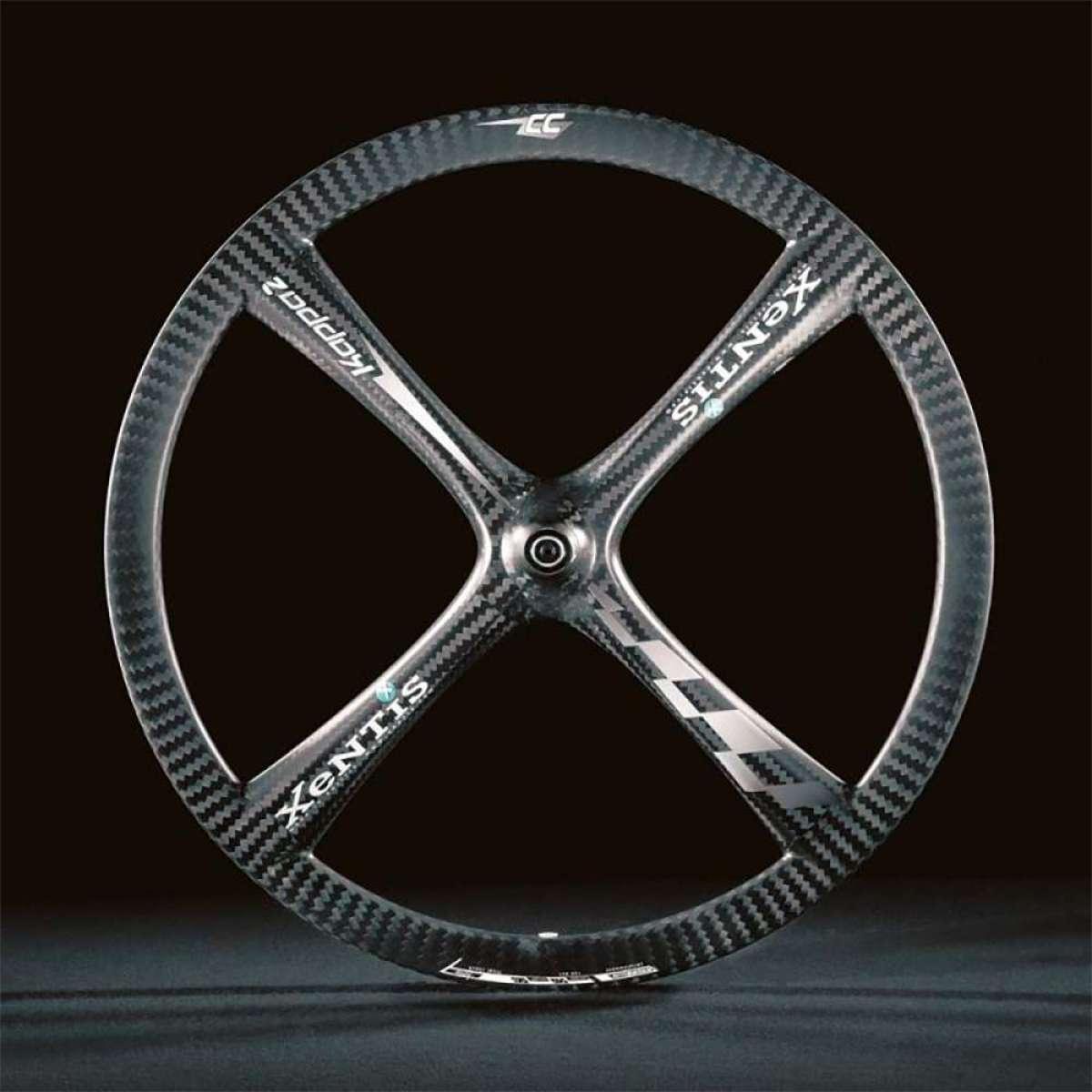 XeNTiS Kappa2, unas ruedas de carbono con cuatro radios integrados para presumir de bicicleta