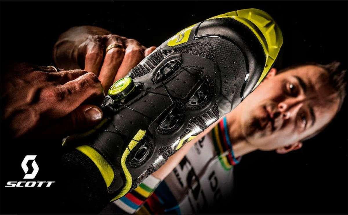 Las zapatillas Scott MTB RC Ultimate de Nino Schurter en acción