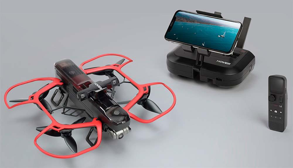 En TodoMountainBike: Hover 2, un dron plegable y autónomo para rodar en el monte con una cámara 4K sobrevolando la bici