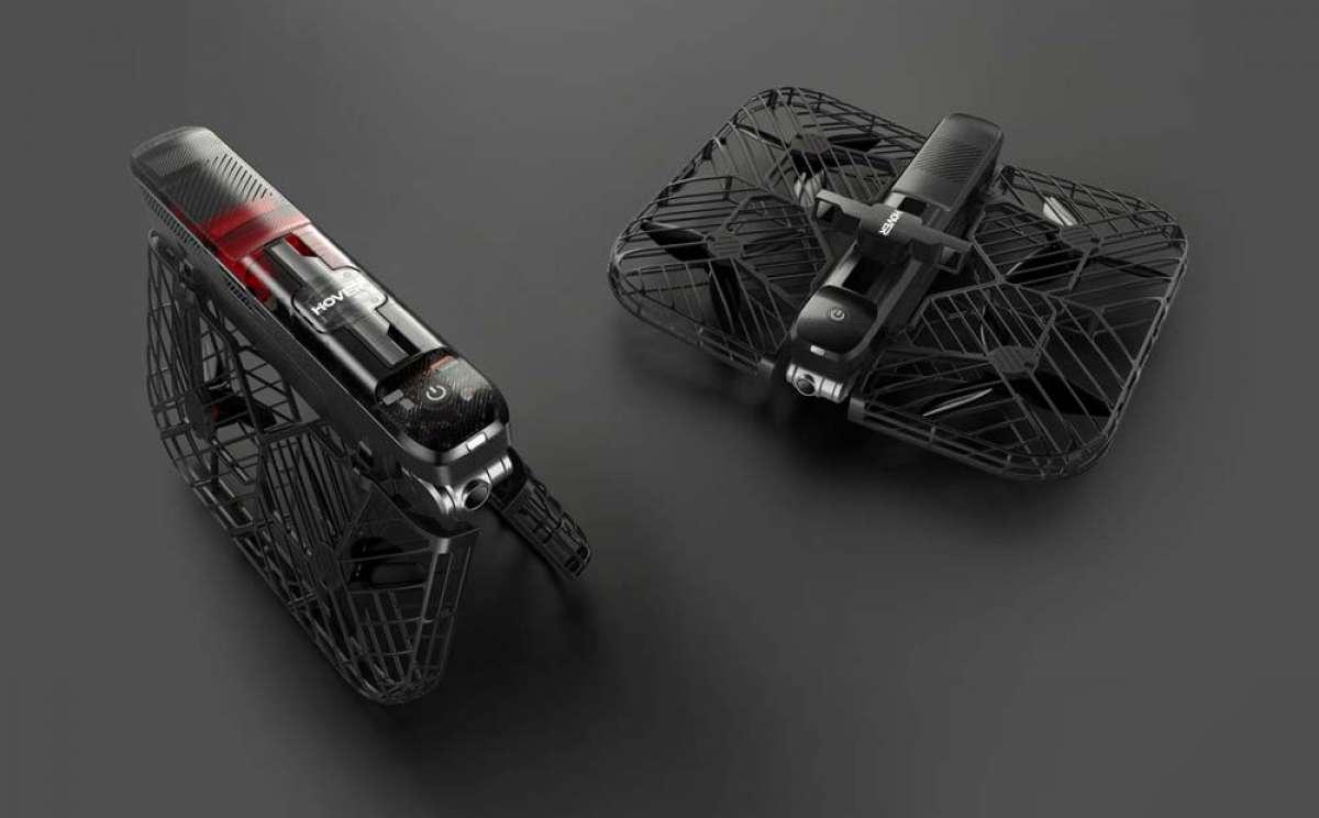 Hover 2, un dron plegable y autónomo para rodar en el monte con una cámara 4K sobrevolando la bici