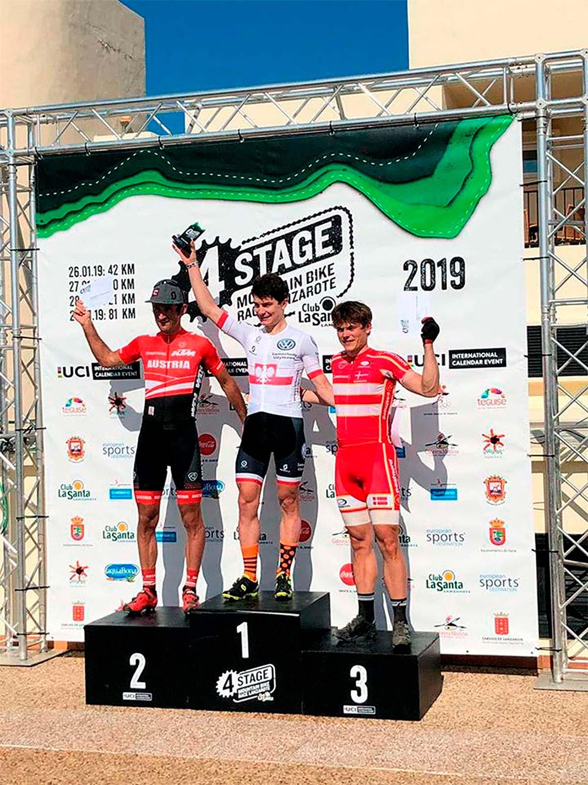 4 Stage MTB Race Lanzarote 2019: Bartlomiej Wawak y Blaza Pintaric repiten victoria en la segunda etapa