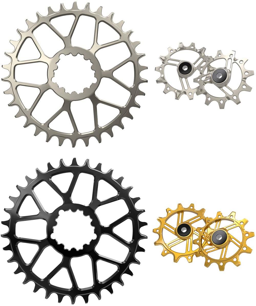 En TodoMountainBike: Bikesur Sport trae a España los platos de titanio y aluminio de Ka Engineering