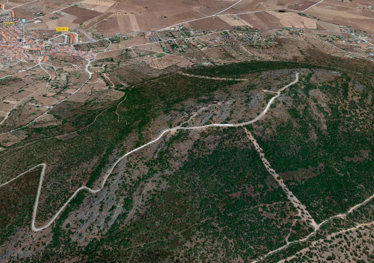 Muere un ciclista en Sierra de Fuentes (Cáceres) tras caerse de su bici en un descenso