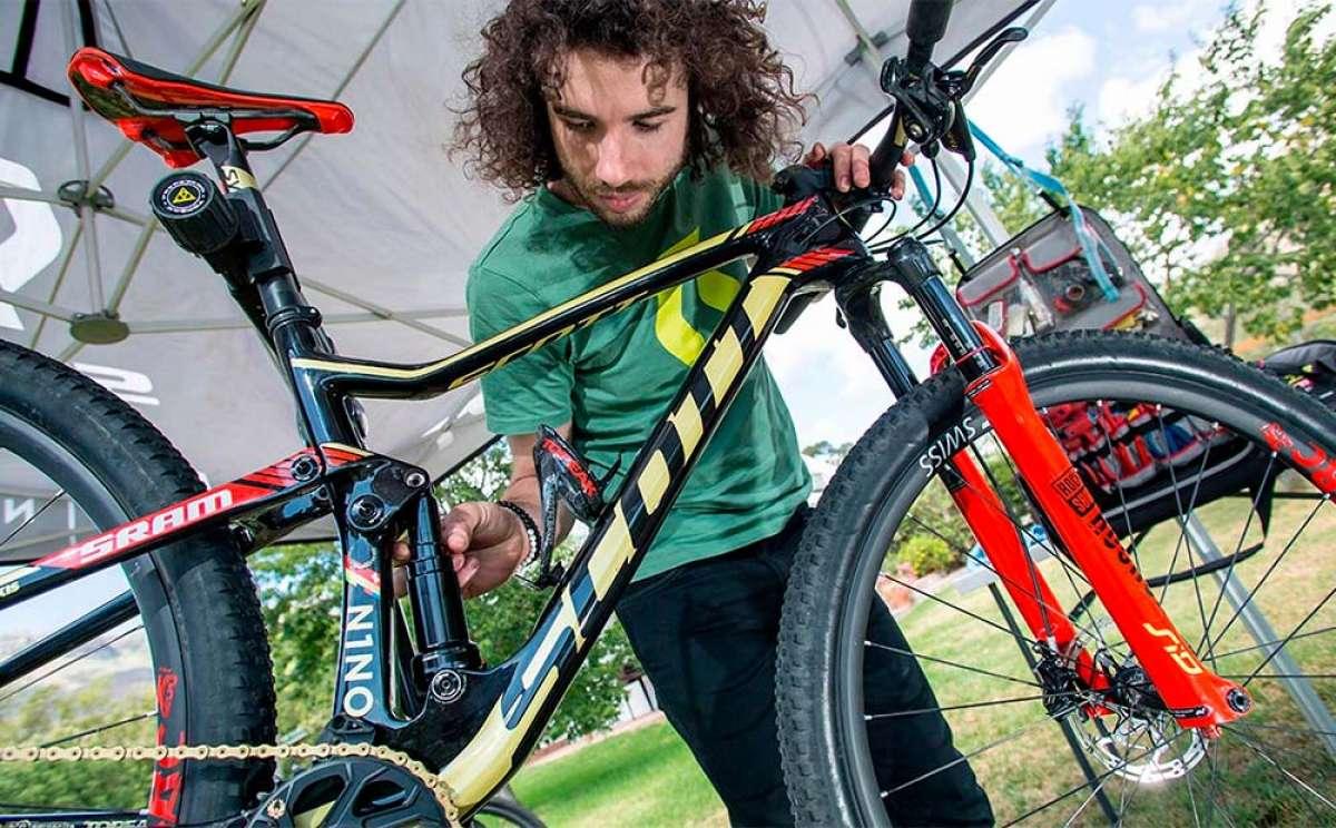 ¿Cómo ajustar a la perfección la suspensión de la bici? Yanick Gyger lo explica