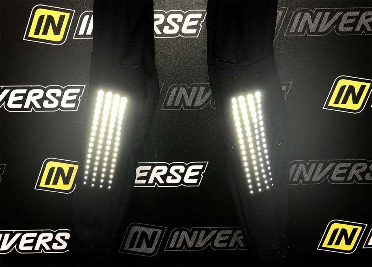 Culotte de invierno Team Inverse, con puntos reflectantes integrados para aumentar la visibilidad
