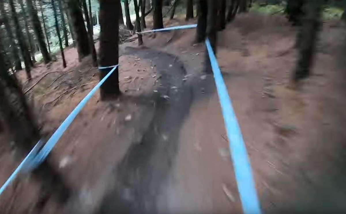 Vertiginoso descenso entre árboles en Innerleithen con Danny Hart