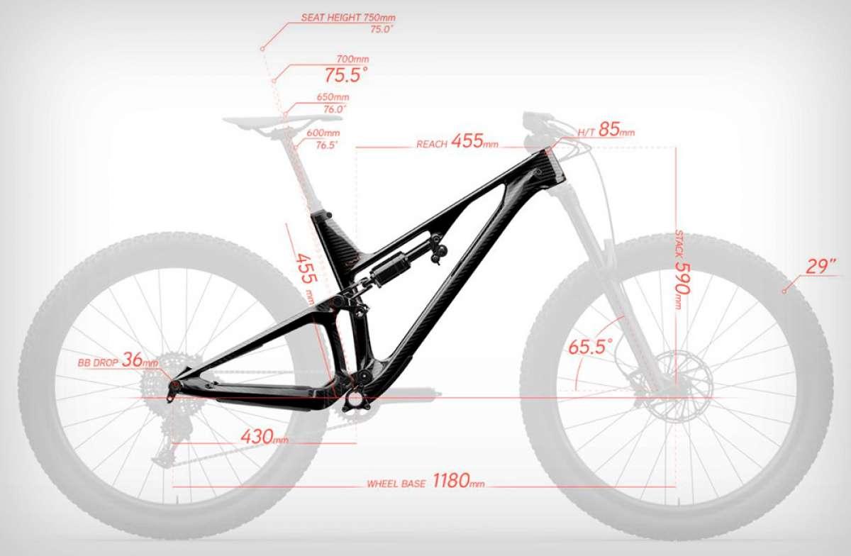 Los conceptos que hay que conocer para entender la geometría de una bicicleta de montaña