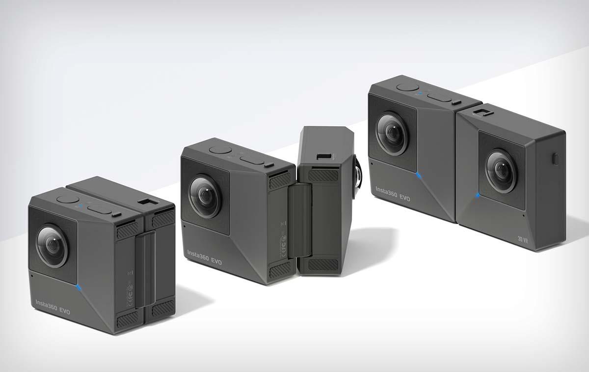 Insta360 EVO, una cámara de acción plegable que captura vídeos de 360º o de 180º en 3D