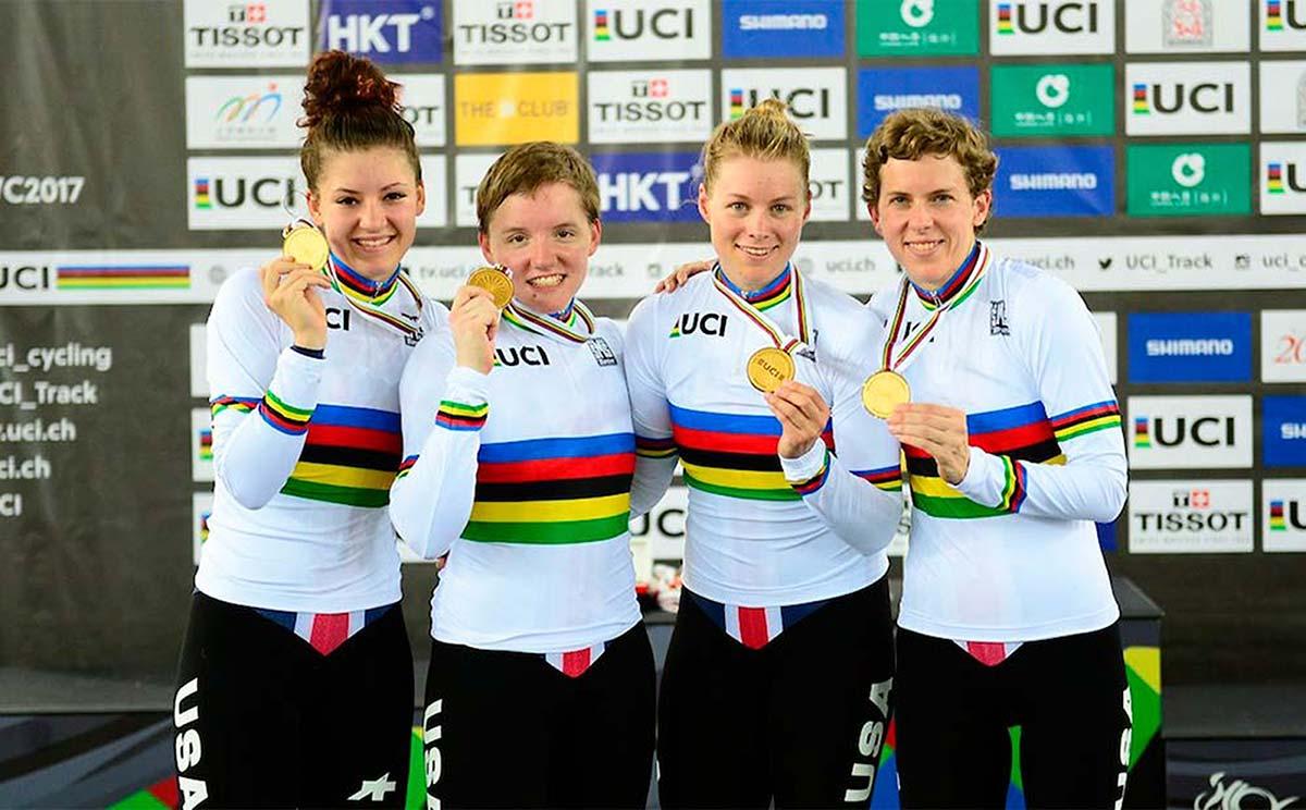 Kelly Catlin, tres veces campeona del mundo de ciclismo en pista, se suicida a los 23 años de edad