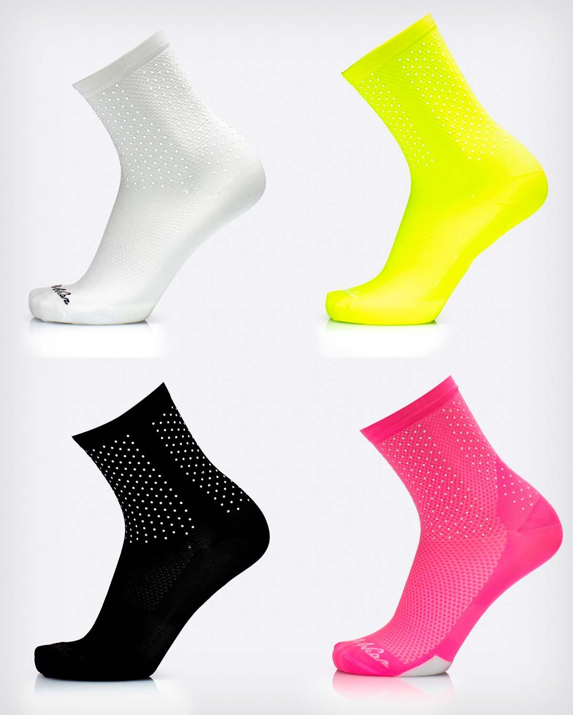 MB Wear Bright, calcetines con patrón reflectante para mejorar la visibilidad de los ciclistas