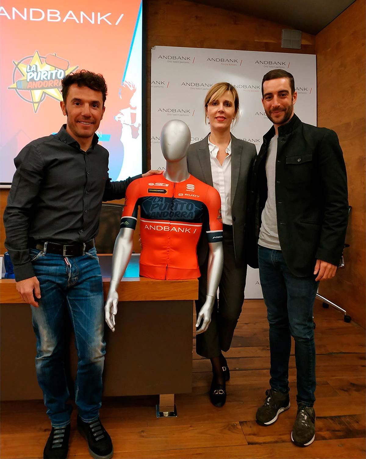 Joaquim 'Purito' Rodríguez presenta su equipo de MTB Andbank-La Purito Andorra