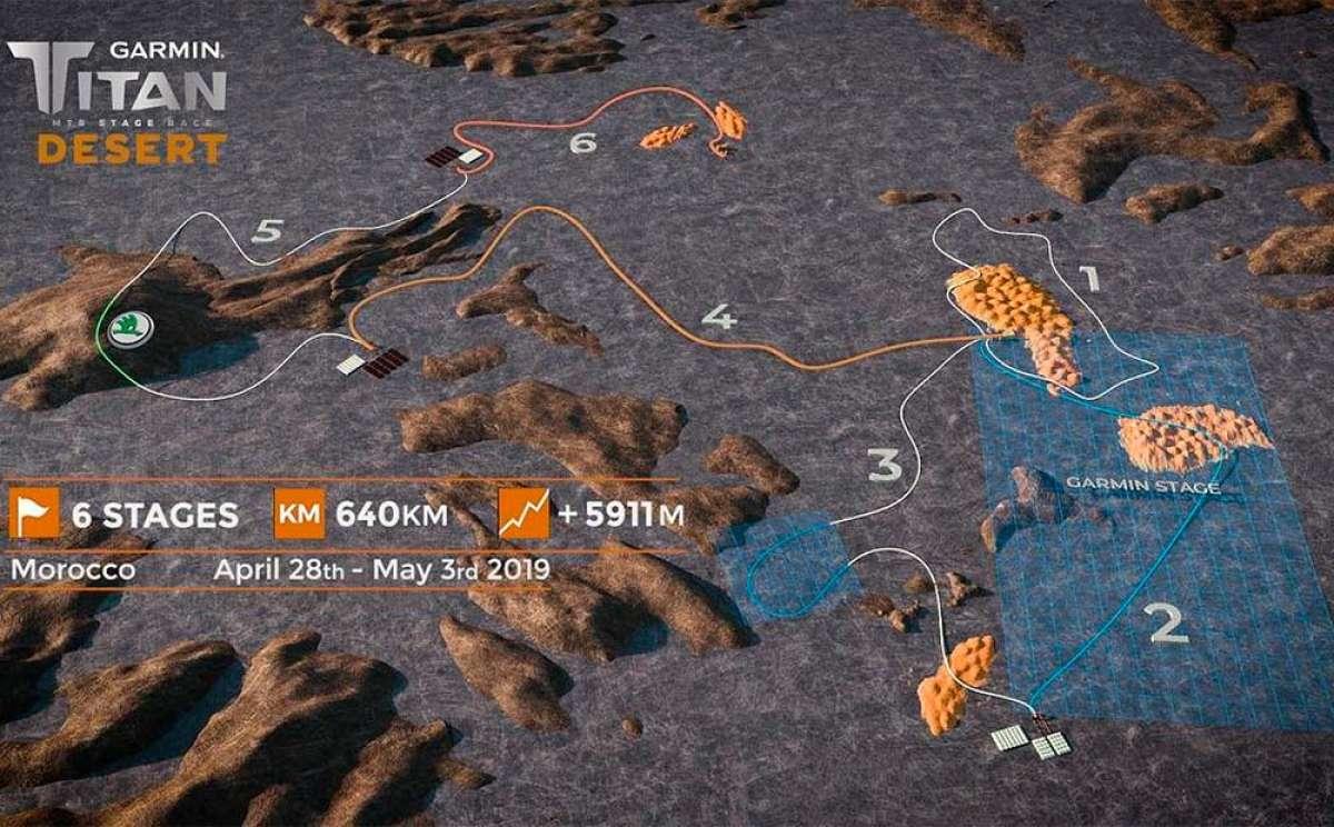 Así es el recorrido de la Garmin Titan Desert 2019, el más difícil de su historia
