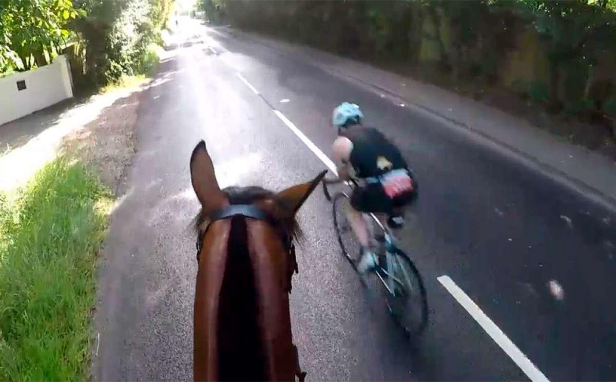 Sanción económica y expulsión de por vida para un ciclista que adelantó imprudentemente a un jinete y su caballo