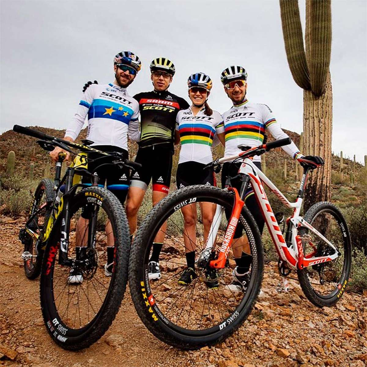 Primera imagen del SCOTT-SRAM MTB Racing al completo, el 'dream team' del XCO