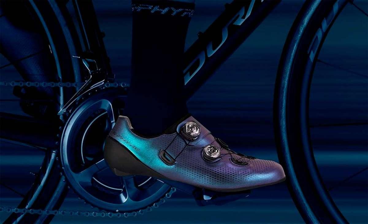 Shimano Aurora S-Phyre, unas zapatillas que cambian de color con gafas a juego